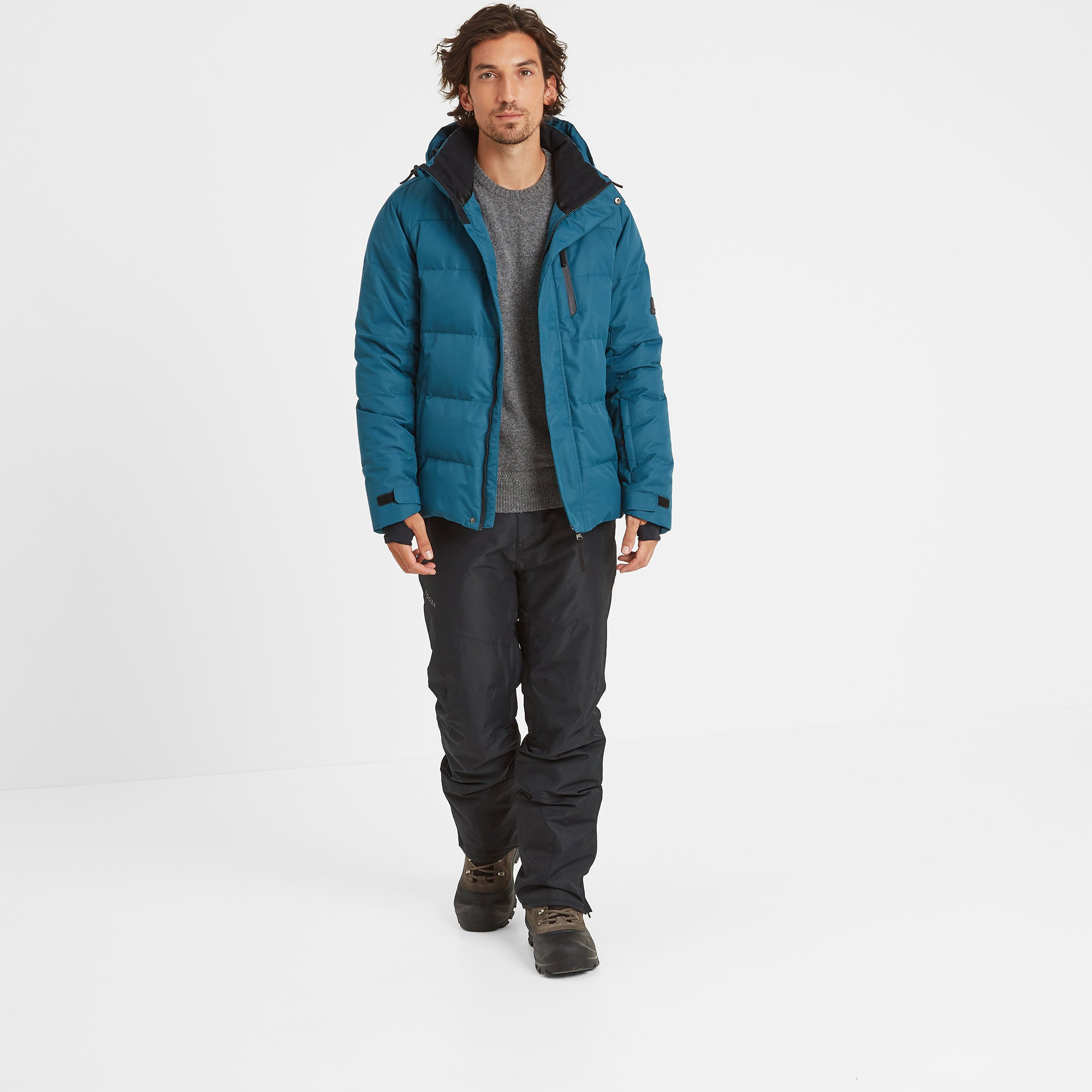 Gunby Mens Down Filled Ski Jacket - Lagoon