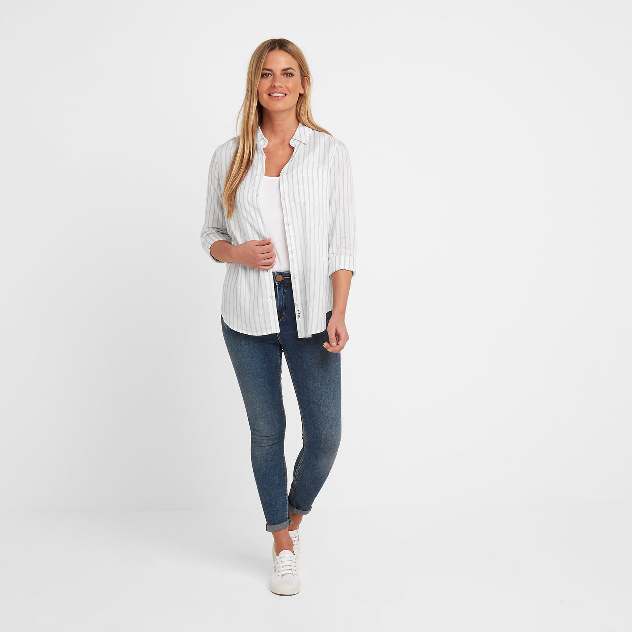 Harlow Womens Long Sleeve Shirt - White image 4