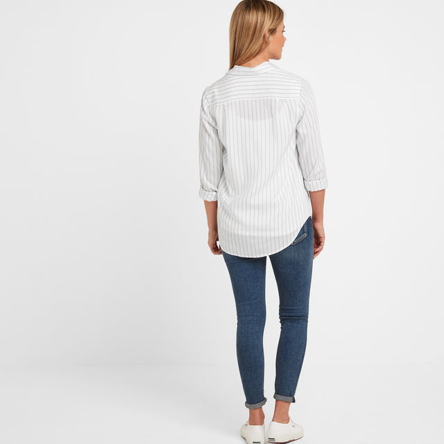Harlow Womens Long Sleeve Shirt - White image 2