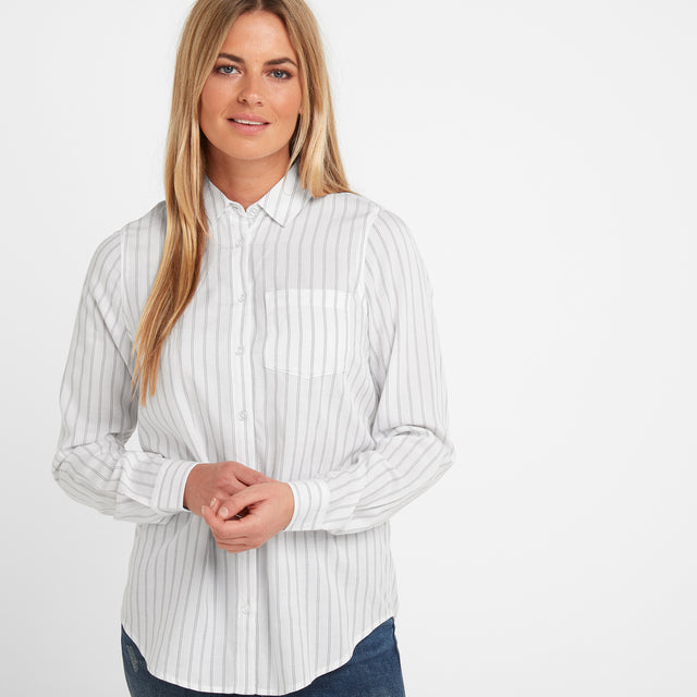 Harlow Womens Long Sleeve Shirt - White image 1