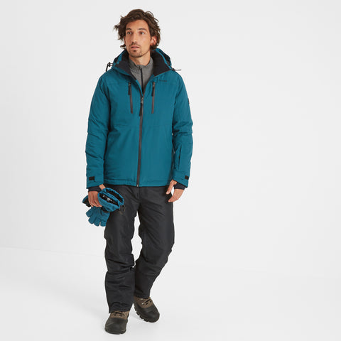 Hawes Mens Waterproof Down Filled Ski Jacket - Lagoon