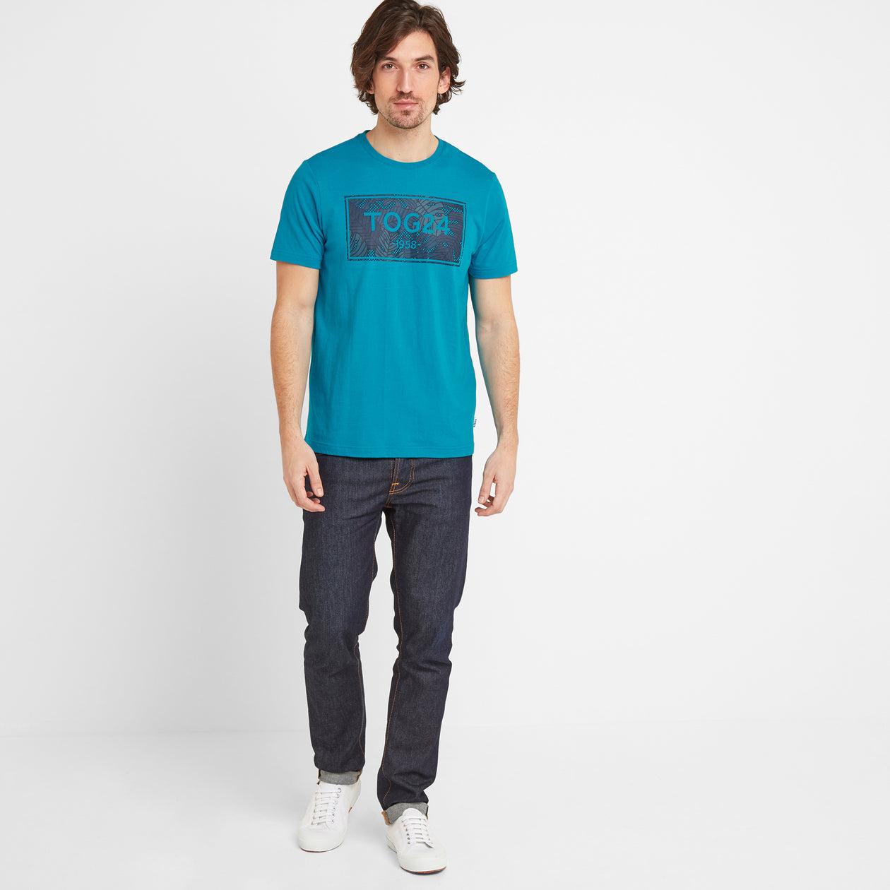 Heaton Mens Tog24 Graphic T-Shirt - Caribbean Blue image 4