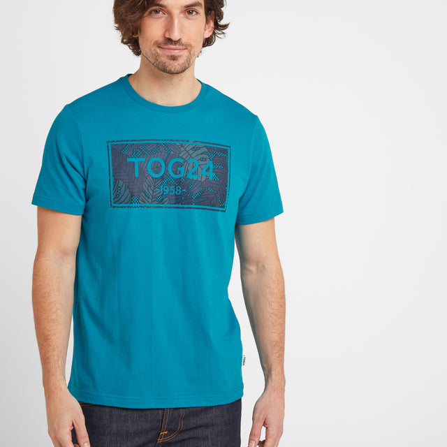 Heaton Mens Tog24 Graphic T-Shirt - Caribbean Blue image 1