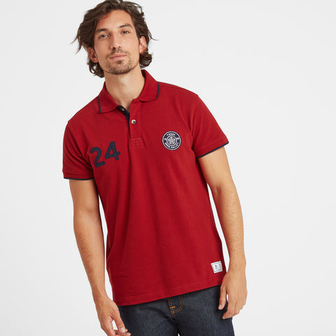 Hebble Mens Pique Polo Shirt - Chilli Red