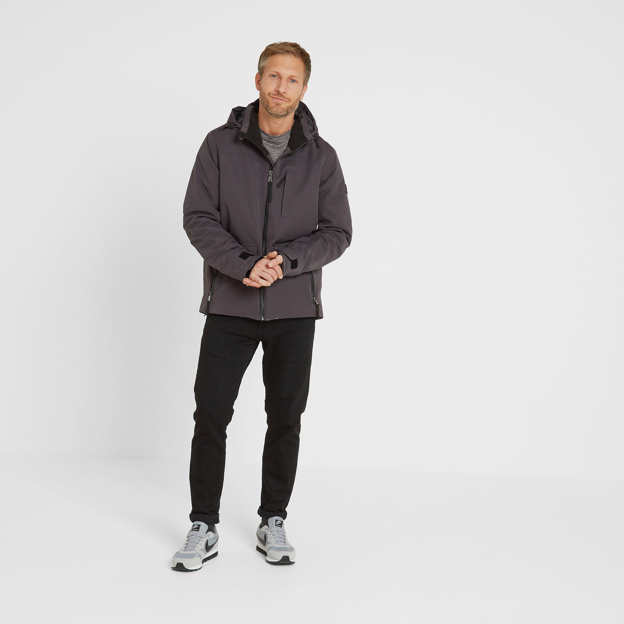 Helmsley Mens Winter Jacket - Coal Grey image 4