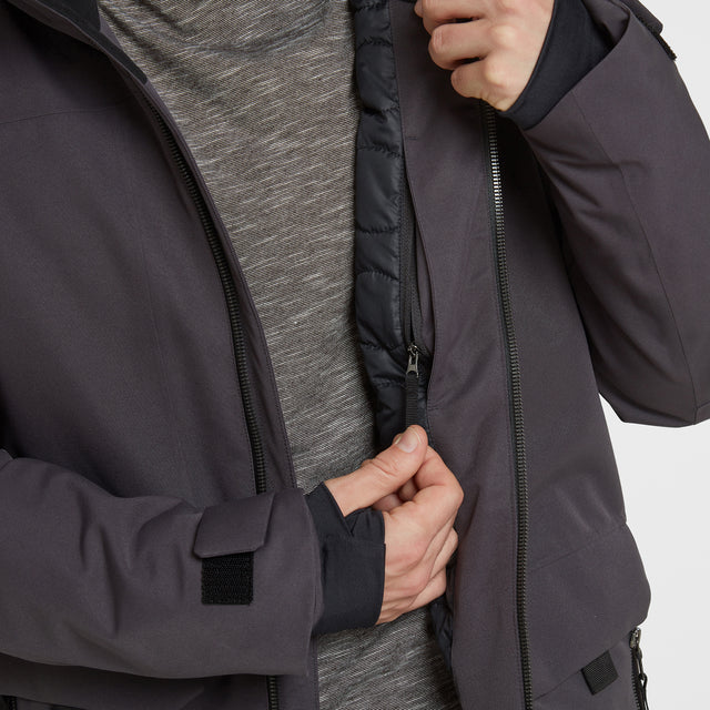 Helmsley Mens Winter Jacket - Coal Grey image 5