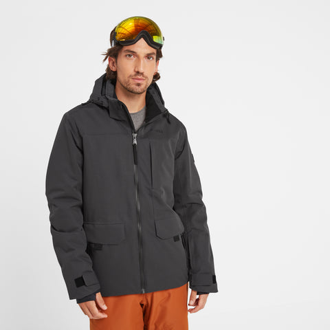 Helmsley Mens Waterproof Ski Jacket - Coal Grey
