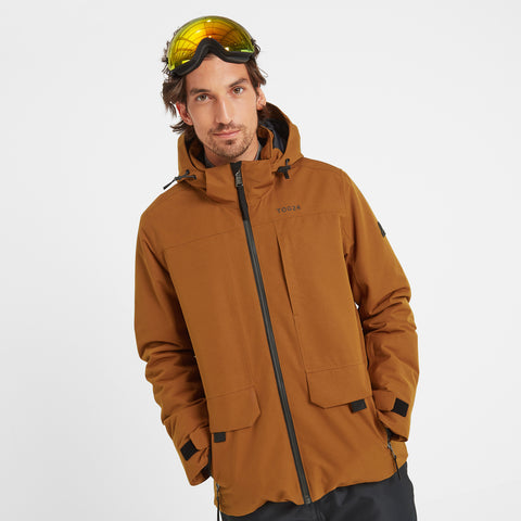 Helmsley Mens Waterproof Ski Jacket - Amber