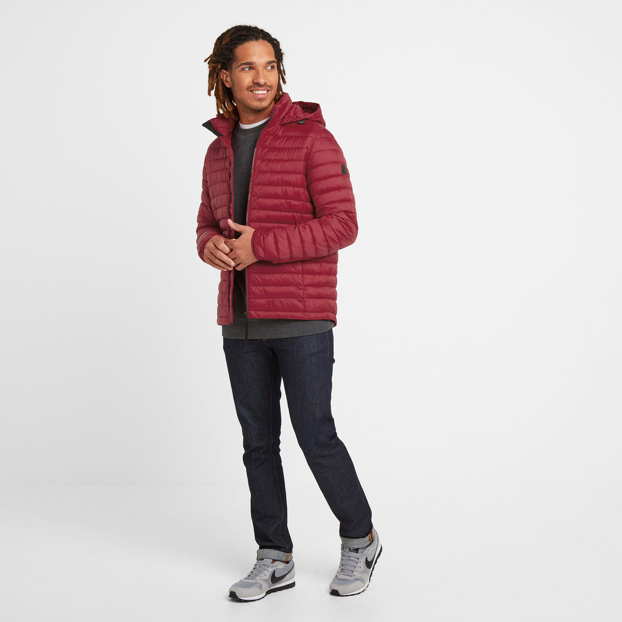Helme Mens Padded Jacket - Rio Red image 4