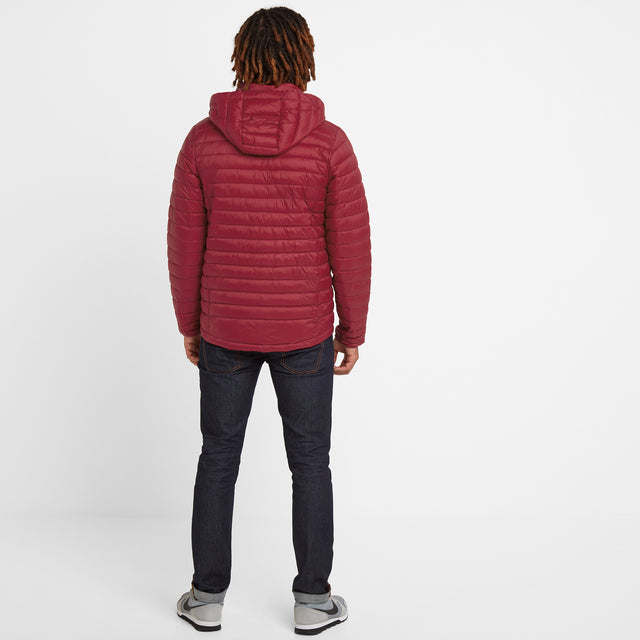 Helme Mens Padded Jacket - Rio Red image 2
