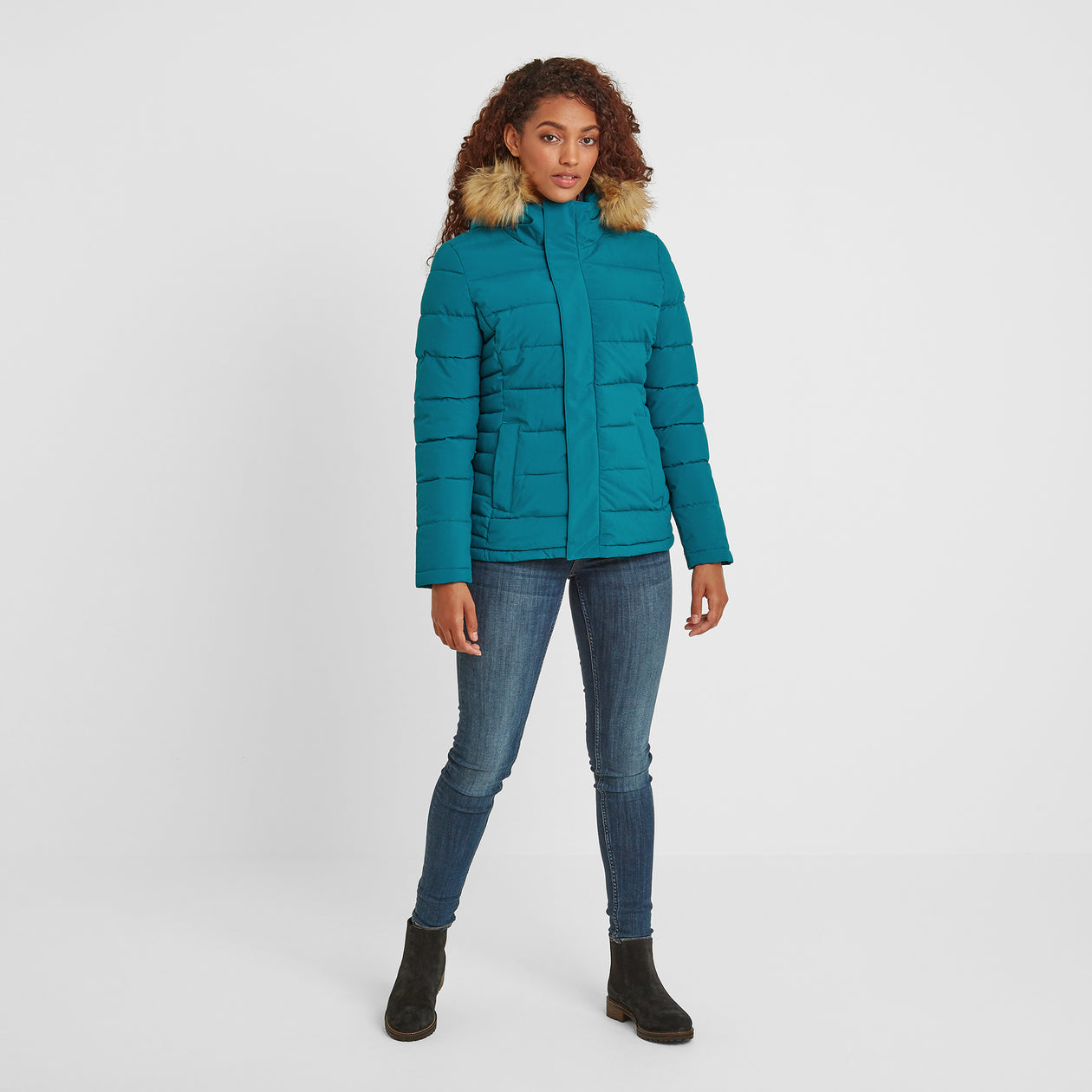 Helwith Womens Insulated Jacket - Pacific Blue image 4