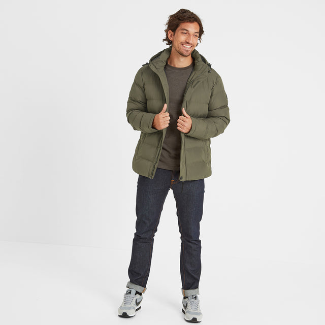 Hexham Mens Long Insulated Jacket - Dark Khaki image 2