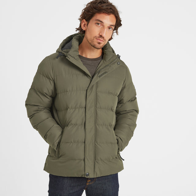 Hexham Mens Long Insulated Jacket - Dark Khaki image 1