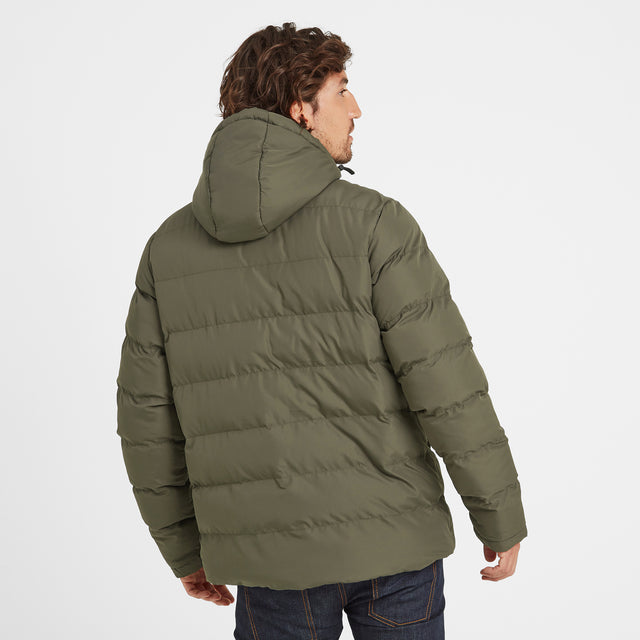 Hexham Mens Long Insulated Jacket - Dark Khaki image 3