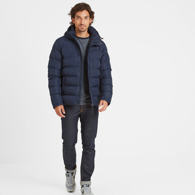 Hexham Mens Long Insulated Jacket - Navy image 2