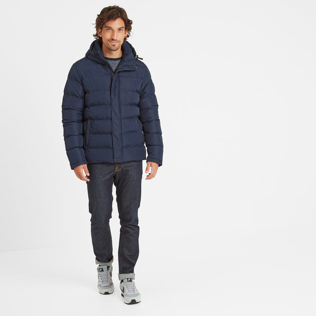 Hexham Mens Long Insulated Jacket - Navy image 3