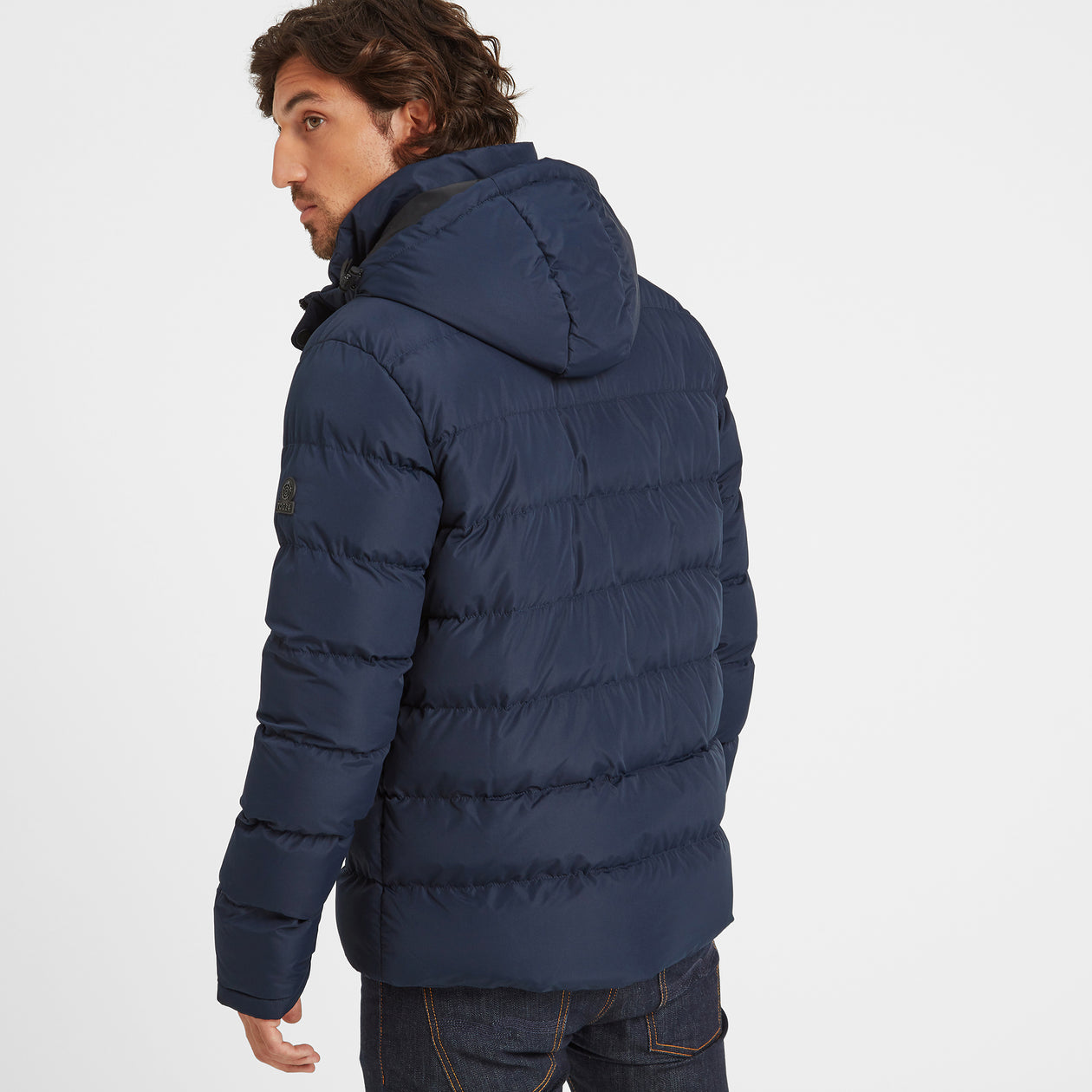 Hexham Mens Long Insulated Jacket - Navy image 4