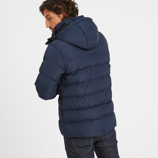 Hexham Mens Long Insulated Jacket - Navy image 5