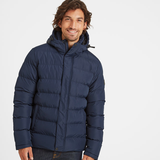 Hexham Mens Long Insulated Jacket - Navy image 1