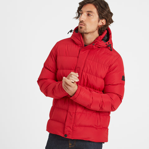 Hexham Mens Long Insulated Jacket - Chilli Red