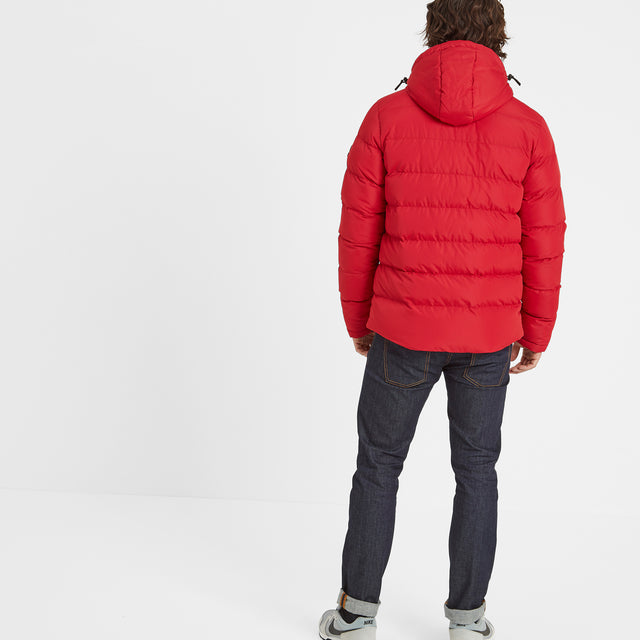 Hexham Mens Long Insulated Jacket - Chilli Red image 3