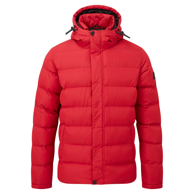 Hexham Mens Long Insulated Jacket - Chilli Red image 5