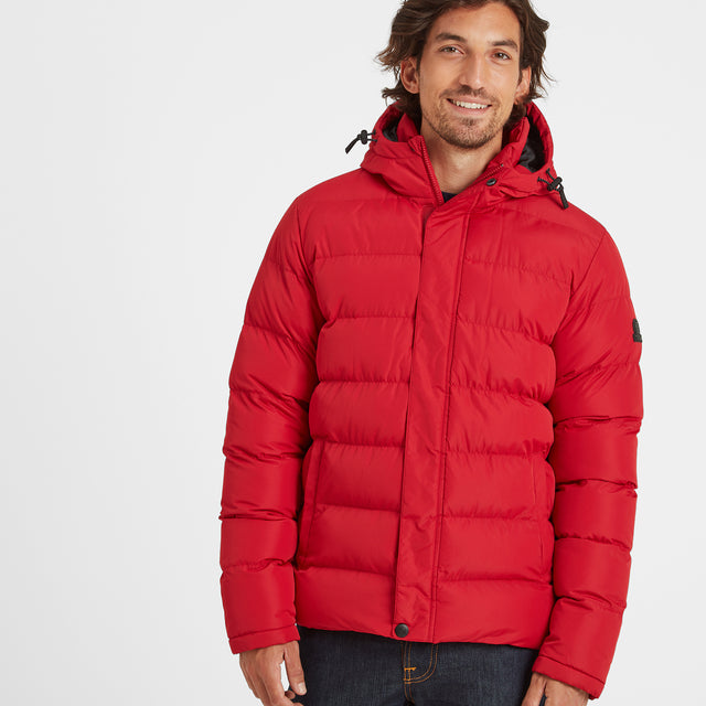 Hexham Mens Long Insulated Jacket - Chilli Red image 2