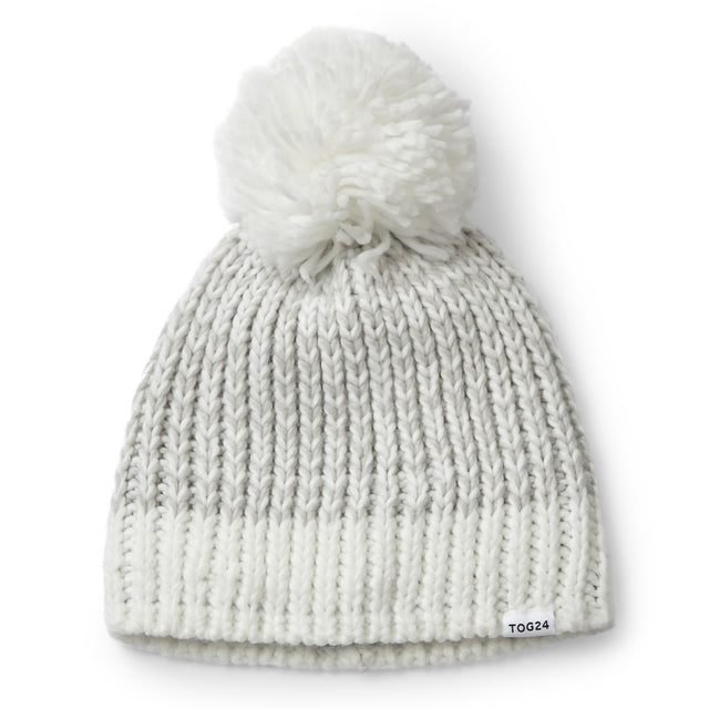 Honeydon Knit Hat - White/Ice Grey Marl image 3