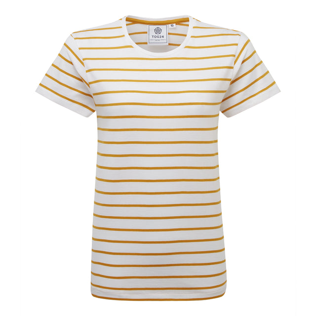 Howlett Womens Stripe T-Shirt - Golden Yellow image 3