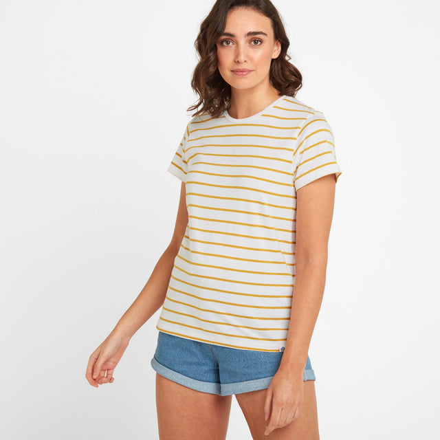 Howlett Womens Stripe T-Shirt - Golden Yellow image 1