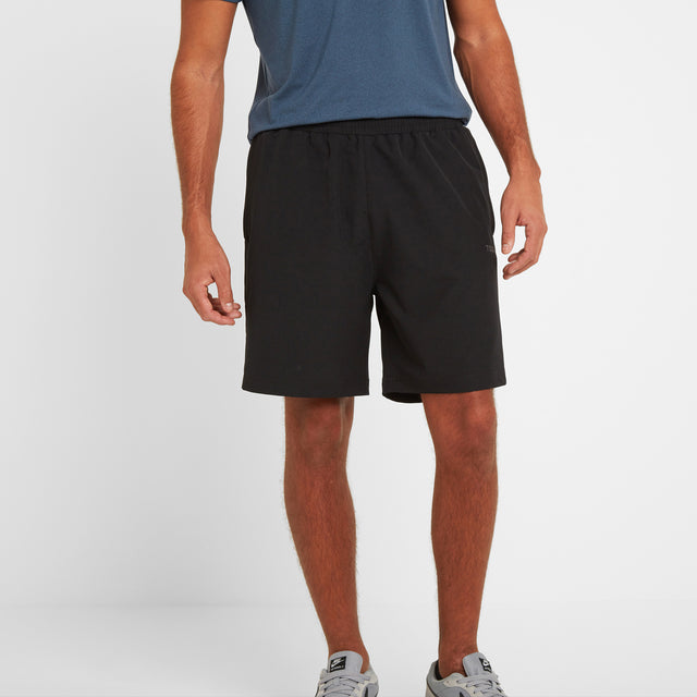 Hunsley Mens Running Shorts - Black image 1