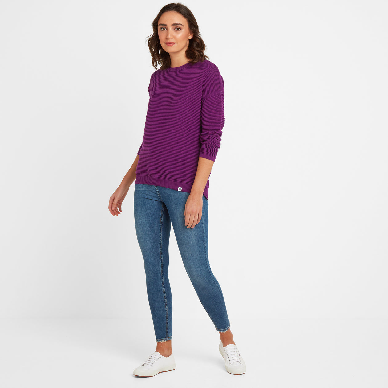 Joyce Womens Ripple Jumper - Mulberry image 4