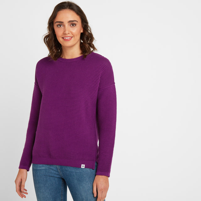 Joyce Womens Ripple Jumper - Mulberry image 1