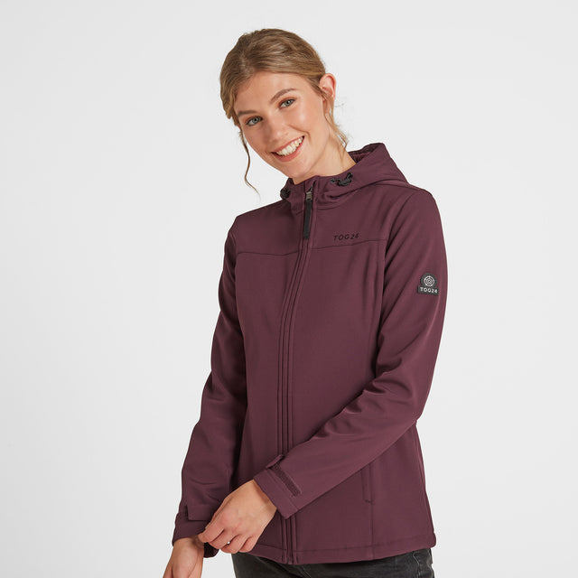 Keld Womens Softshell Hooded Jacket - Deep Port image 1