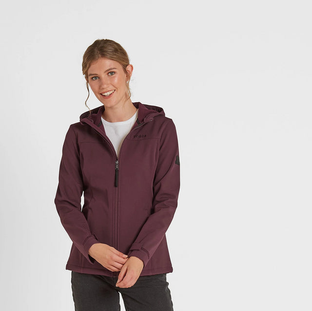 Keld Womens Softshell Hooded Jacket - Deep Port image 2