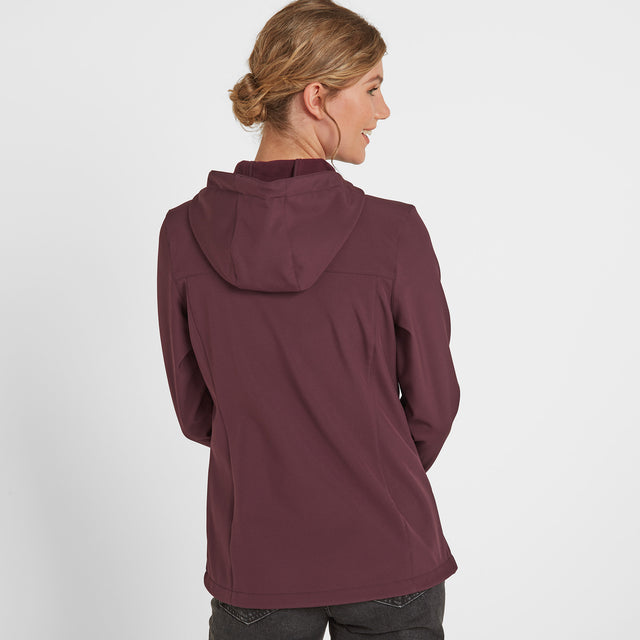 Keld Womens Softshell Hooded Jacket - Deep Port image 3