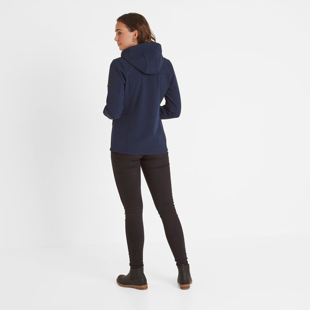 Keld Womens Softshell Hooded Jacket - Navy image 2