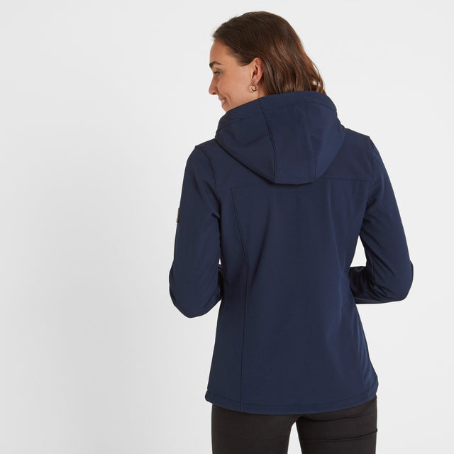 Keld Womens Softshell Hooded Jacket - Navy image 3