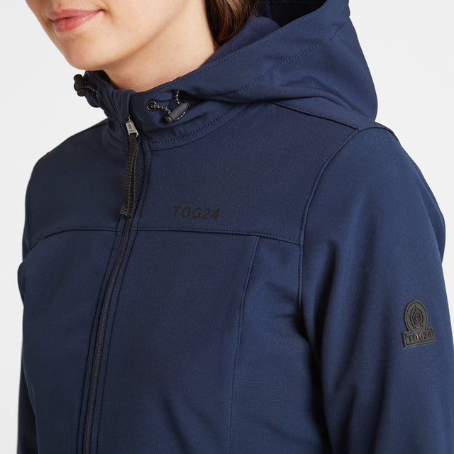 Keld Womens Softshell Hooded Jacket - Navy image 5