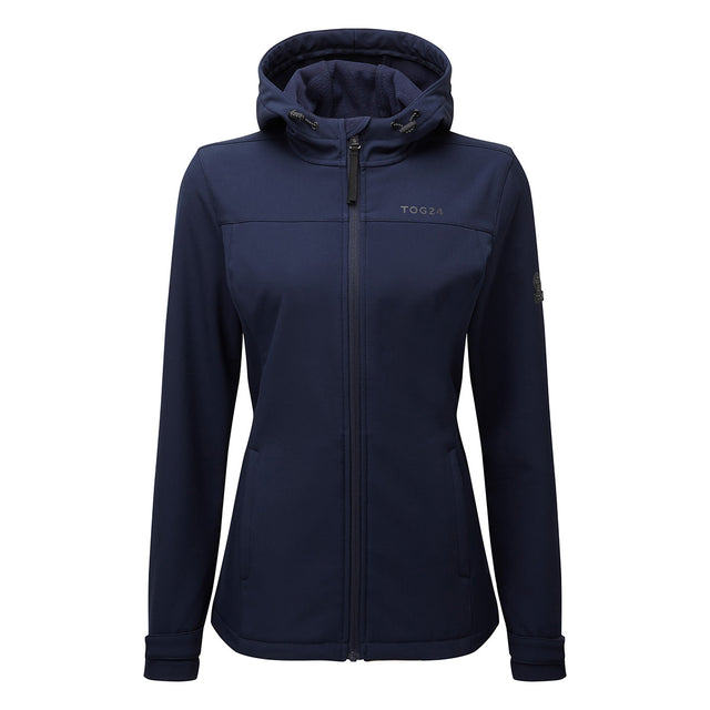 Keld Womens Softshell Hooded Jacket - Navy image 6