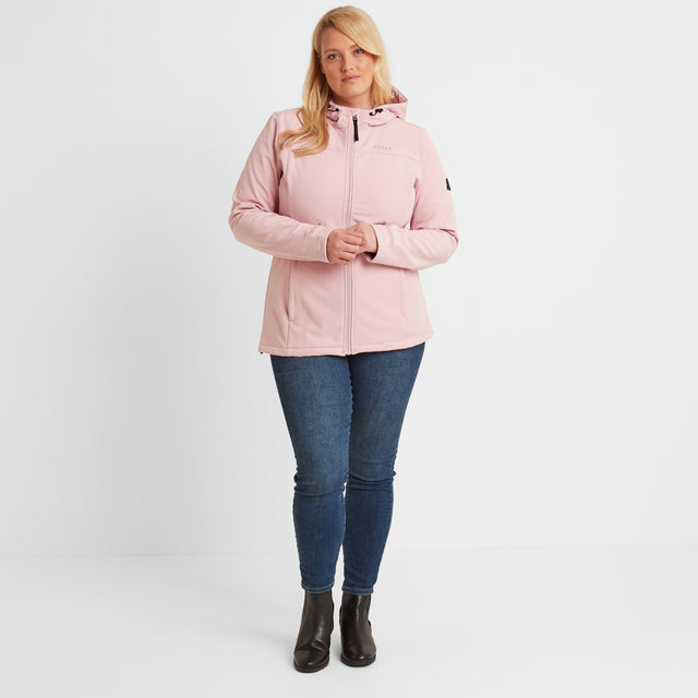 Keld Womens Softshell Hooded Jacket - Rose Pink image 10