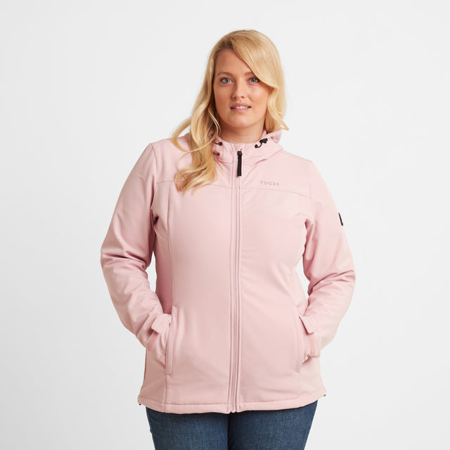 Keld Womens Softshell Hooded Jacket - Rose Pink image 7