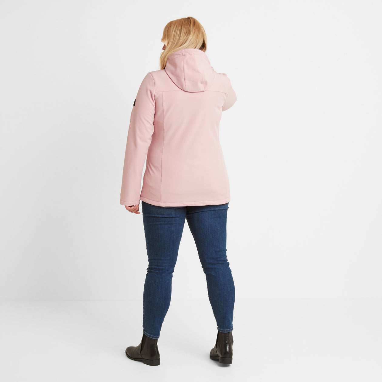 Keld Womens Softshell Hooded Jacket - Rose Pink image 8