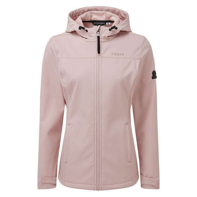 Keld Womens Softshell Hooded Jacket - Rose Pink image 6