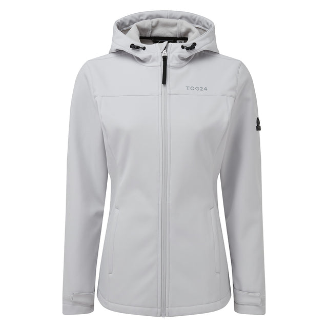 Keld Womens Softshell Hooded Jacket - Ice Grey image 6