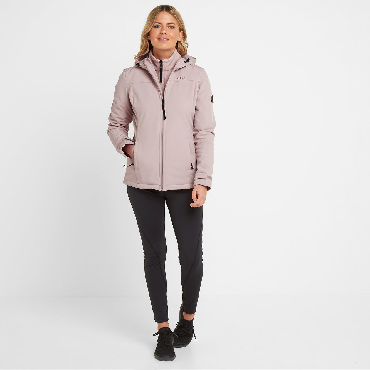 Keld Womens Softshell Hooded Jacket - Dusky Pink image 4