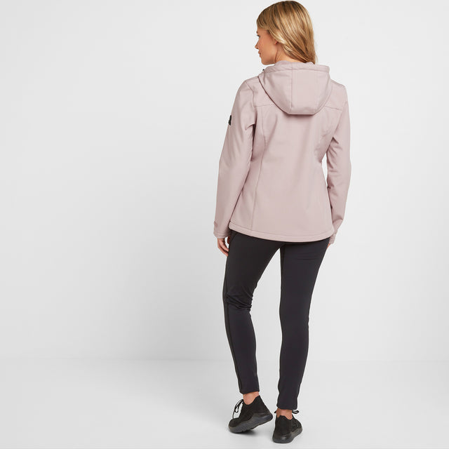 Keld Womens Softshell Hooded Jacket - Dusky Pink image 2