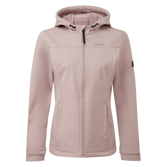 Keld Womens Softshell Hooded Jacket - Dusky Pink image 3