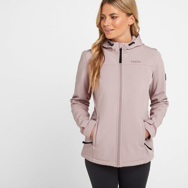 Keld Womens Softshell Hooded Jacket - Dusky Pink image 1