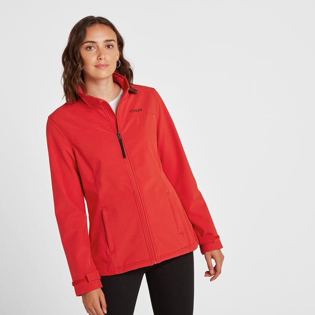 Keld Womens Softshell Jacket - Rouge Red image 1